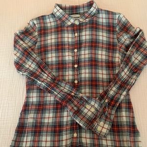 Jcrew holiday plaid flannel perfect shirt